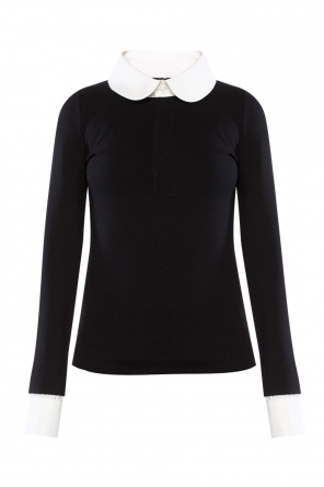 Contrasting collar top od Dsquared2